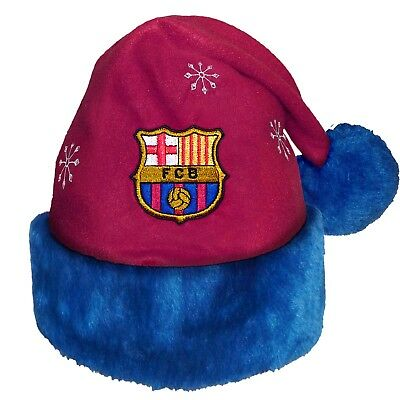 FC Barcelona Official Football Soccer Xmas Gift Christmas Santa Beanie Hat