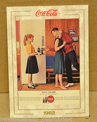 SERVES YOU RIGHT 1962 Coke Coca Cola 1993 Series 1 Trading Card # 71