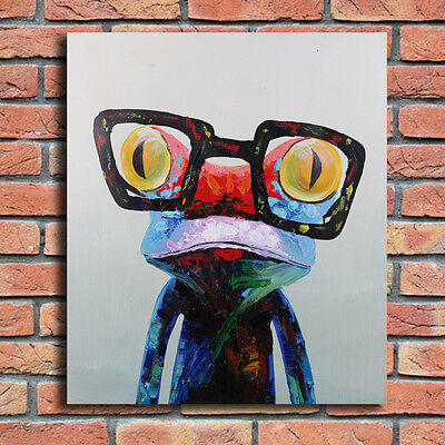 """Modern on Canvas Abstract Oil Painting Hand Painted Art Decor 20""""*24"""" Frog"""