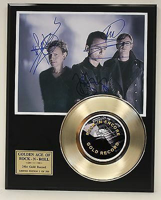 Depeche Mode Gold 45 Record Ltd Edition Signature Series  Ships Us Free