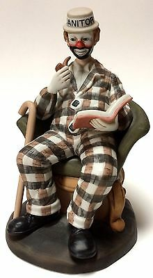 Flambro Paul Jerome Hobo Makeup Janitor American Clown Figurine Limited Edition