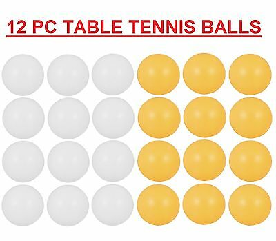 12 Pc Table Tennis Balls Ping Pong Sport Tournament Indoor/Outdoor Cat Play Toy