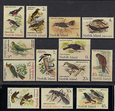 STAMPS  NORFOLK  ISLAND  SELECTION  1970-71 BIRDS  1c - 45c     (MNH)   lot 31x