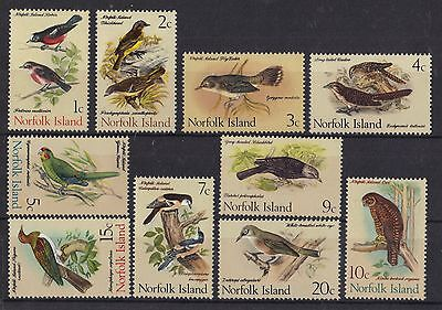 STAMPS  NORFOLK  ISLAND  SELECTION  1970-71 BIRDS  1c - 20c     (MNH)   lot 31x