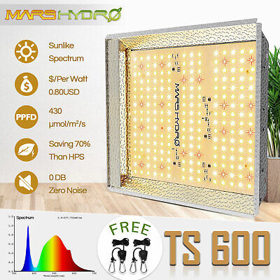 Mars 300W LED Grow Light Hydro Full Spectrum Indoor Plant Veg Flower Lamp Panel