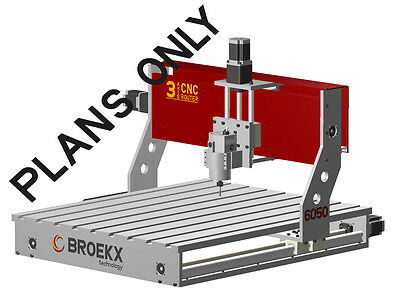 BROEKX 3 Axis CNC Router Table Milling, Drilling and Engraving machine Diy Plans