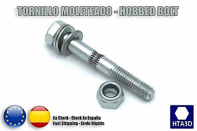 Hobbed Bolt Tornillo moleteado M8x60 great strength prusa mendel reprap i3 3d