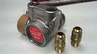 "PROCON, PUMP, STAINLESS STEEL, 15 TO 140 GPH,  3/8""NPT MALE  x 3/8"" MALE FLARE"