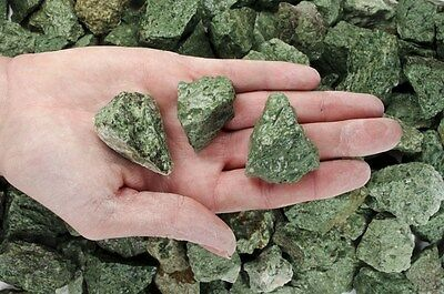 2 Pounds of Natural Green Volcano Rough Stones - Cabbing, Tumble Rocks, Reiki