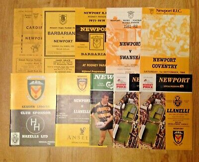 Newport Rugby Programmes 1957 - 2012