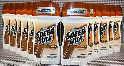 12 Speed Stick MUSK Deodorant 24 HR Protection 3.0 oz For Men / Boys