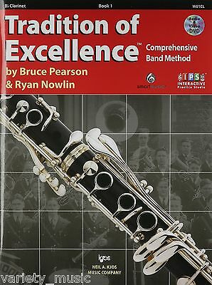 Tradition Of Excellence Book 1 Clarinet, interactive practice studio.