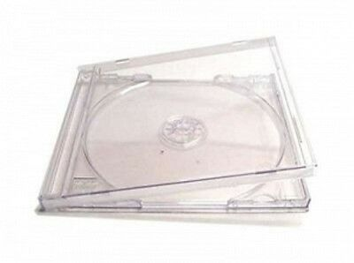 25/50/100/150/200 TRANSPARENT Jewel Case CD Hüllen klar  für 1 CD Top Quali !