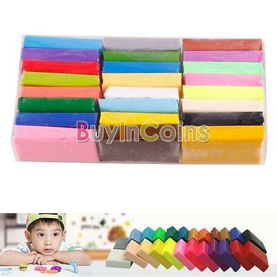 1/24Pcs DIY Colorful Fimo Effect Polymer Clay Blocks Modelling Plasticine RSUS