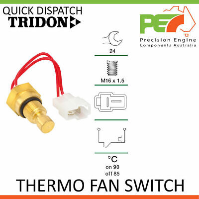 New * TRIDON * Universal Thermo Fan Switch - 90C ON > 85C OFF, M16x1.5