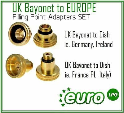 GPL LPG Autogas Filling Point Adapters Set FOR ALL Europe OF 4TRAVEL KIT M10
