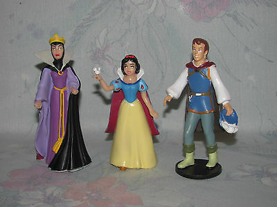 Disney Snow White PVC Set of 3 - Evil Queen, Prince Charming - Cake Toppers