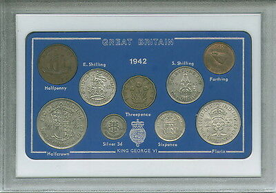 1942 Vintage Coin Set 75th Birthday Birth Year Present Wedding Anniversary Gift