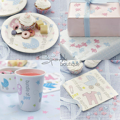 Baby Shower/Christening Unisex Party Set-PAPER NAPKINS, PLATES, CONFETTI & CUPS