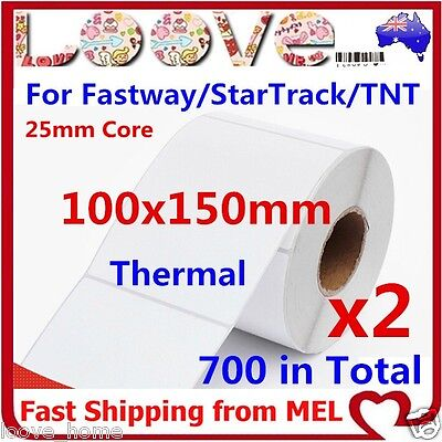 2x Direct Thermal Shipping Labels for Fastway eParcel Startrack 100x150mm 4×6