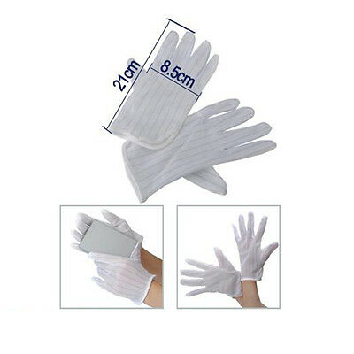 Anti-static Anti-skid Gloves ESD PC Computer Electronic Working White New New SP