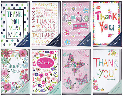 Thank You / Open Notelet Cards with Envelopes - 8 Pack - by Simon Elvin