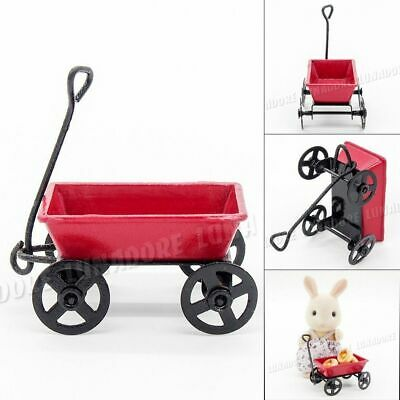 1:12 Trailer Miniature Metal Tool Trail Car Dollhouse Toy For Rement Size Decor