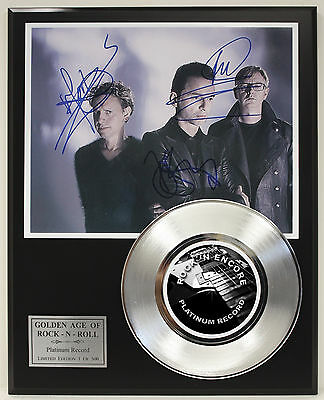 Depeche Mode Platinum Record Ltd Edition Signature Series  Ships Us Free