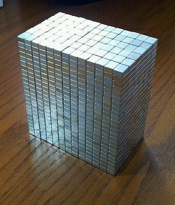 24 NEODYMIUM block magnets. Super strong N50 rare earth magnets!