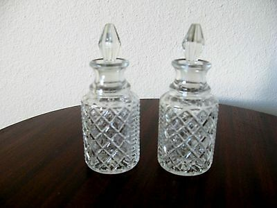 Vintage Crystal Salt & Pepper Shakers & olive & vinegar container**Best Price**