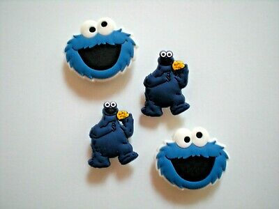 Jibbitz Croc Clog Shoe Plug Charm Accessories Fit Bracelet Belt 4 Cookie Monster