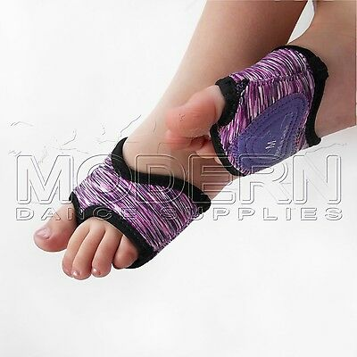 Modern Dance Foot Thongs Foot undies PURPLES WITH BLACK TRIM
