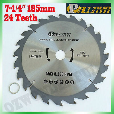"Circular Saw Blade(185mm) 7-1/4""x24 Teeth Timber Aluminum Alloy Plastic Cutting"