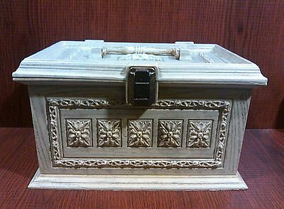 MAX KLEIN VINTAGE SEWING BOX BASKET CHEST WITHOUT TRAY.
