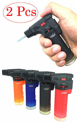 "2 Pack  4"" EagleTorch Welding Gun Butane Torch Lighter Refillable and Lockable"