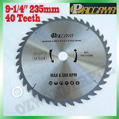 "Circular Saw Blade(235mm) 9-1/4""x 40 Teeth Timber Aluminum Alloy Plastic Cutting"