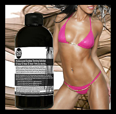 Be Brown Professional Sunless Spray Tan Tanning Solution 4 ALL Skin Types 200mls