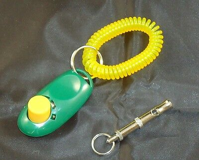 Clicker and Whistle Training Kit - DOG - PUPPY - OBEDIENCE - PET - DOGS - TRAIN