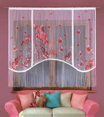 CHILDREN HAND PAINTED KIDS NET CURTAIN - ELF FOR ANY GIRLS ROOM 87'' x 71''