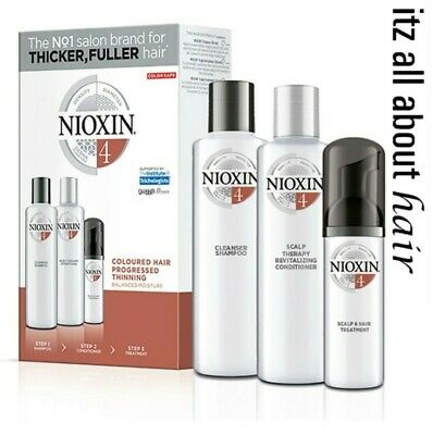 Nioxin System 4 Starter Kit for progressed thinning Coloured Hair Aus Stock