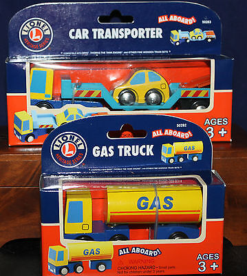 Thomas the Train Wood RR~ All Aboard~Lionel Transporter/Gas Truck Compatable