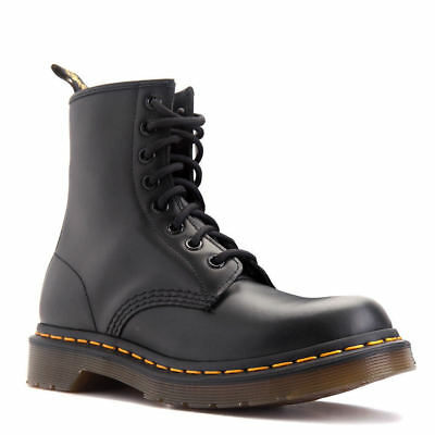 Women's Shoes Dr. Martens 1460 8 Eye Boots 11821006 Black Smooth *New*