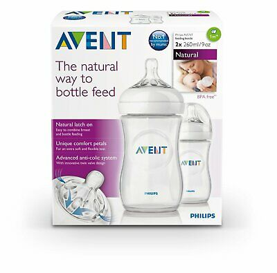 Philips AVENT Natural Feeding Bottle 260ml/9oz Twin - SCF693/27