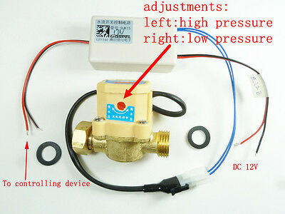 G 1/2 20mm pressure Water flow on/off switch sensor with control box for 12v DC