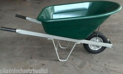 BEHEMOTH BARROW 180L - XL LARGE wheelbarrow - Heavy Duty green equine / gardener