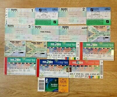 Rugby World Cup Used Tickets 1991 - 2015