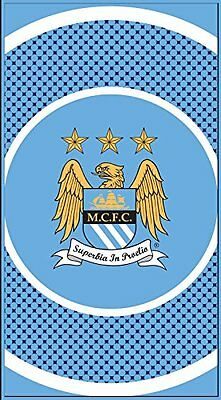 Manchester City Football Club Bullseye Beach Bath Towel