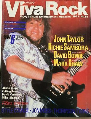 VIVA ROCK Japan Music Magazine 6/1987 Bon Jovi John Taylor Thompson Twins Bowie