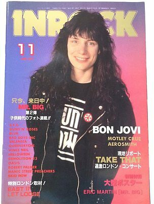 INROCK Japan Music Magazine 11/1994 Bon Jovi Mr.Big Motley Crue Guns N' Roses