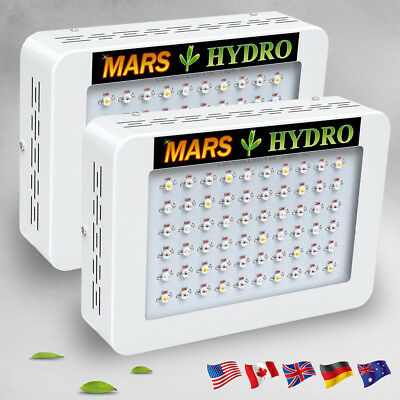 2*300W LED Grow Light Veg Bloom Full Spectrum Indoor Medical Hydroponics Panel